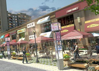 商业空间│商业街区设计与施工