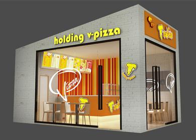 商业空间│披萨连锁店面设计